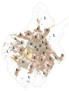 L'attuale consumo di suolo come rappresentato nel PS adottato