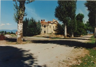 il viale nei pressi della casa San Leopoldo