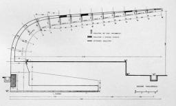 I conci assemblati attraverso i cavi di postcompressione, secondo uno dei brevetti di Morandi