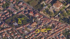 foto aerea di Poggio a Caiano