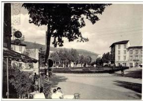 Vista della piazza San marco prima della costruzione della Casa del Combattente