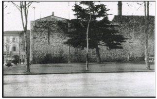 L'area prima della costruzione della Casa del Combattente